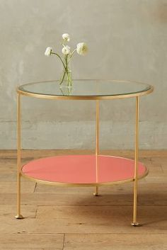 Anthropologie Lacquered Side Table