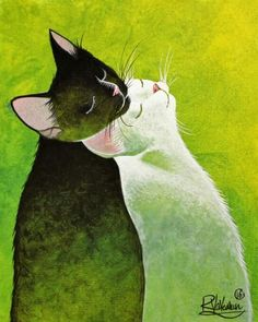 Spring love by raphael vavasseur cats in art кошачий рисунок Cool Cats, I Love Cats, Crazy Cats, Cat Lover Gifts, Cat Gifts, Art Et Illustration, Illustrations, Gatos Cats, Cat Colors