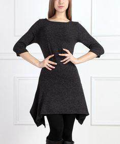 Another great find on #zulily! Black Sidetail Tunic #zulilyfinds