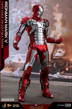 The Iron Man Mark V Diecast Sixth Scale Figure is available at Sideshow.com for fans of Marvel's Iron Man 2 and Tony Stark.