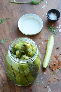 Garlic Dill Refrigerator Pickles by anediblemosaic: Quick small batch. #Pickles #Refrigerator #Quick