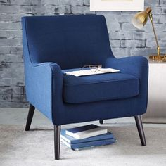 NEW! Perfect for curling up with a new novel. The soft, subtle curves of our Book Nook Armchair make it an inviting spot to relax. The slim-lined profile makes it great for small spaces and cozy corners.