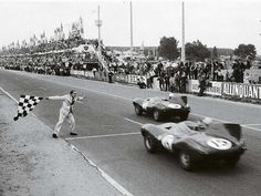 Jaguar D Type, finishing both 1st and 2nd at the 1954 Le Mans.