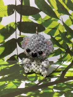 Miniature Japanese Seed Bead Koala Bear Charm Doll