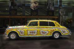 Rolls-Royce (John Lennon) (re-painted by Steve Weaver in 1967) #Yellow #Custom #Painting