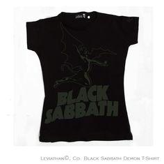 Black Sabbath Demon - women ••• 16.99€ ✠ #LeviathanCo #tshirt #design #psychobilly #creative #create #clothes #vintage #diseño #lifestyle #rockNroll #pinup #rockabilly #hotrod #tattoos #motocicletas #bikers #camiseta #rider