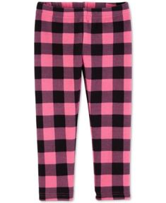 5869640d0739 Carter s Baby Girls Plaid-Print Leggings - Plaid 24 months Baby Girl  Leggings