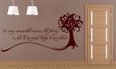 Family quote reading:In every conceivable manner, the familyis link to our past, bridge to our future by Alex Haley Wall Sticker/Decal - available in a great range of colours! Dining Room Walls, Living Room Decor, Wall Stickers, Decals, Alex Haley, Kitchens And Bedrooms, Family Wall, Wall Pictures, Family Quotes