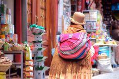 Colorful robes in Bolivia. ©Tapashia.
