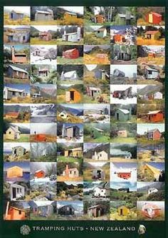 Check out New Zealand Tramping Huts Poster at New Zealand Fine Prints