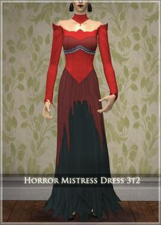 - The Big Trade-Off Long Summer Dresses, Formal Dresses, Bright Color Schemes, Female Vampire, Sims Games, My Sims, Sims Mods, Costume Dress, Dress Up