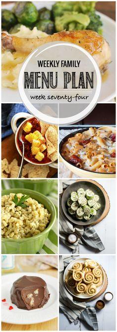 Weekly Family Menu Plan, Week 74 (Favorite Family Meals)