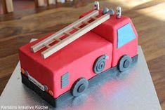 fire truck, fondant, feuerwehr, kuchen, torte, kindergeburtstag, fire, feuer