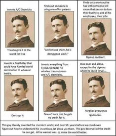 Nicola Tesla - importance! Nicola Tesla, Be With Someone, Space Time, Most Popular Memes, Life Memes, Earth Science, Olay, New Tricks, You Funny