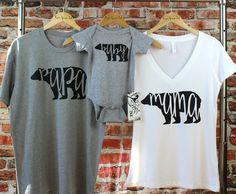 Mama Bear Papa Bear & Baby Bear Shirt Set. Bear Family Shirts. Mama Bear + Papa Bear + Baby Bear Shirts. Baby Shower Gift. Baby Announcement by FreeSpiritInk on Etsy