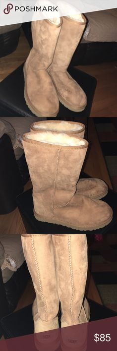 UGG Tall Boots Worn a couple times, but still looks new. Offers welcome. Model # 5815 UGG Shoes Winter & Rain Boots