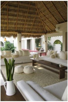 Advanced minimalist living room lighting just on homesable home design Bali House, Outdoor Rooms, Outdoor Living, Bamboo House, Tropical Houses, Minimalist Living, Home Design, Home Deco, Exterior Design