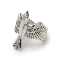 The Great Frog 'Soaring Eagle' Ring. Handmade in London from hallmarked British sterling silver. Gold And Silver Bracelets, Cheap Silver Rings, Silver Chain Necklace, Silver Necklaces, Sterling Silver Jewelry, Diamond Jewelry, Jewelry Rings, Gold Jewelry, Wire Jewelry