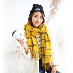 http://www.buyhathats.com/winter-plaid-scarf-women-yellow-scarfs-tassel-design.html