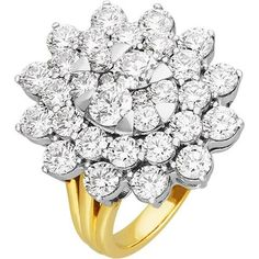 Diamond Cluster Ring in Yellow Gold Diamond Cluster Ring, Yellow, Metal, Rings, Gold, Jewellery, Jewels, Ring, Schmuck