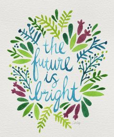 The future is bright motivationmonday print inspirational black white poster motivational quote inspiring gratitude word art bedroom beauty happiness success motivate inspire