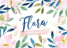Flora Watercolor Flower Graphics by The Fabled Graphics on @creativemarket