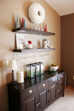 Dinning Room (buffet and wineglass shelf)