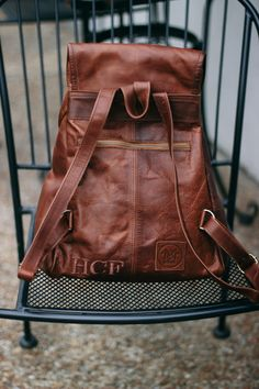 e1753f7aa6 Personalised leather backpack from MAHI Leather.
