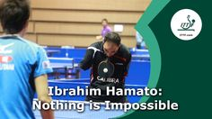 The unique story of a man from Egypt with no arms. He was invited as an honour guest of the ITTF President Adham Sharara to visit and enjoy the ZEN-NOH 2014 World Team Table Tennis Championships in Tokyo, Japan. http://www.dailymail.co.uk/news/article-2629066/Incredible-moment-armless-table-tennis-player-competes-against-worlds-pros-holding-bat-MOUTH.html