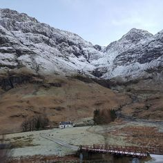 Glencoe with a dusting of white stuff, Scotland.