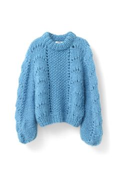 The Julliard Mohair Pullover, Cyan Blue Hand Knitted Sweaters, Mohair Sweater, Blue Sweaters, Oversized Sweaters, Thick Sweaters, Handgestrickte Pullover, Pullover Sweaters, Cardigans, Knit Fashion