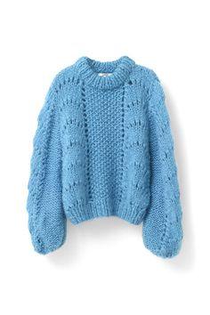 Ganni Special Holidays Picks | The Julliard Mohair Pullover, Cyan Blue