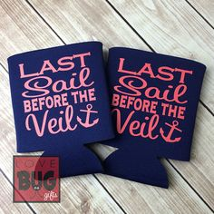 Great for cruise bachelorette parties - Last Sail Before the Veil Koozies - Set of 10 - Etsy $28