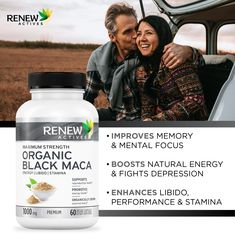 Black Maca, Maca Root Powder, Depression Support, Natural Energy, How To Increase Energy, Pills, Organic, Vegetables, History