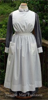 WWI era nurse's uniform with removable sleeves for a museum in Canada. Gown designed after the extant VAD poster.