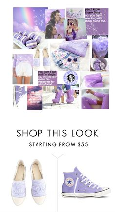 """""""Lavender mood"""" by maryanacoolstyles ❤ liked on Polyvore featuring Chanel and Converse"""