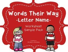 {Free Sample} Words Their Way - Letter Name Alphabetic Spellers- Worksheets  Sample- 8 Pages Kindergarten, 1st, 2nd, 3rd, 4th, 5th, 6th, Homeschool Worksheets, Homework, Printables...This document is a FREE SAMPLE of a full product from my store.