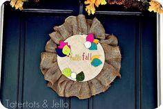 Fall Embroidery Hoop Door Hanging Tutorial
