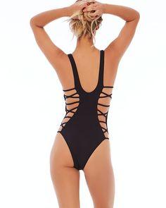 Sporting Punta Cana Swimsuit 2019 Hot Monokini One Piece Swimsuit Bodysuit Short Cut High Waist Bathing Suits Black Us Size:s-xl Sports & Entertainment