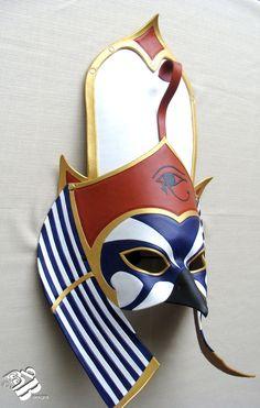 Custom Egyptian Horus Leather Mask by ~senorwong on deviantART