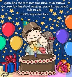 Feliz cumpleaños mi amor. Hoy es un día muy especial para ti, es tu cumpleaños.