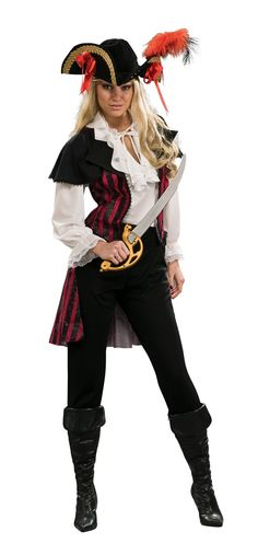 Marie La Fay Costume Blouse with attached jacket, pants and hat. Sword Sold Seperately.