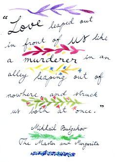 Mikhail Bulgakov - The Master and Margarita  #love #valentines