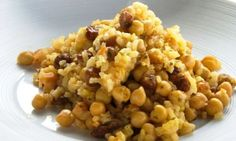 ¡¡ARROCES!!: Arroz con pasas y garbanzos