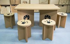 ... in Cardboard Furniture » Chairs And Table Cardboard Furniture Image