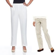 Alfred Dunner Womens Pants Pull On Group Classics Solid size 8 10 NEW  16.99 https://www.ebay.com/itm/263264912915