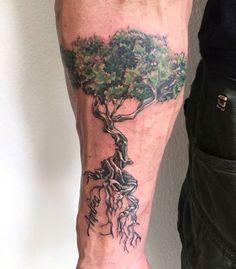 30 Olive Tree Tattoo Designs For Men - Olea Europaea Ink Ideas Tree Tattoo Meaning, Tree Roots Tattoo, Tree Tattoo Men, Tree Tattoo Designs, Deer Tattoo, Raven Tattoo, Tattoo Designs For Women, Tattoos With Meaning, Tattoos For Women