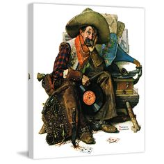 """Marmont Hill - """"Dreams of Long Ago"""" by Norman Rockwell Painting Print on"""
