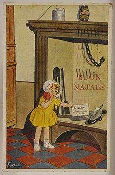 ILLUSTRATA G. DIDONE BAMBINA BUON NATALE POSTCARD VIAGGIATA f/p 1927 #15423