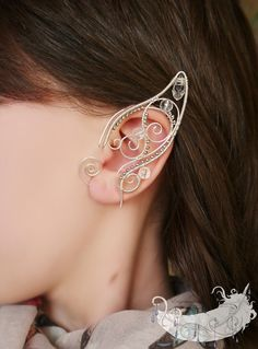 Silver plated elf ears https://www.etsy.com/ru/listing/183773036/elf-child-elf-ears-no-piercing-ear-cuff